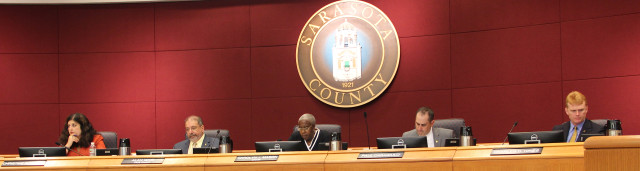 The Sarasota County Commission sits in session this week. Photo by Rachel Hackney