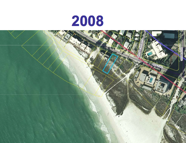 The lot in 2008. Image courtesy Sarasota County
