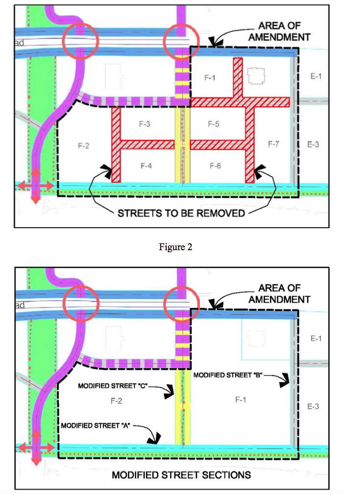 Graphics show the proposed street grid changes. Image courtesy Sarasota County