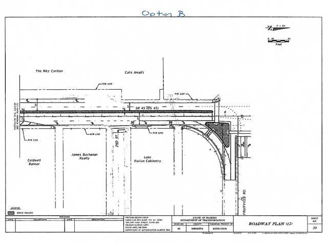 The City Commission approved Option B for U.S. 41 and Fruitville Road. Image courtesy City of Sarasota