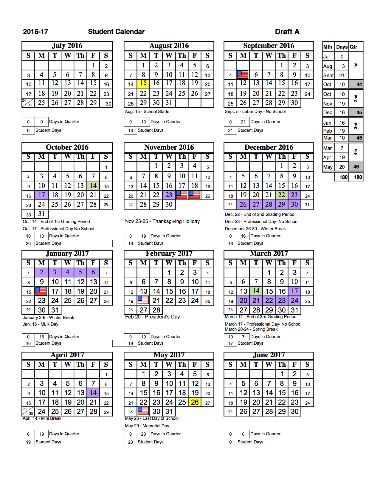 School Calendar 2016 17 : Sarasota county students will return to classes earlier