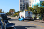 Three wheel vehicle and beer truck on Ocean Blvd. April 1 2014 RBH