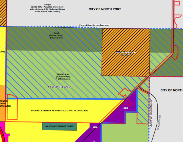 A graphic shows the subject area. Image courtesy Sarasota County