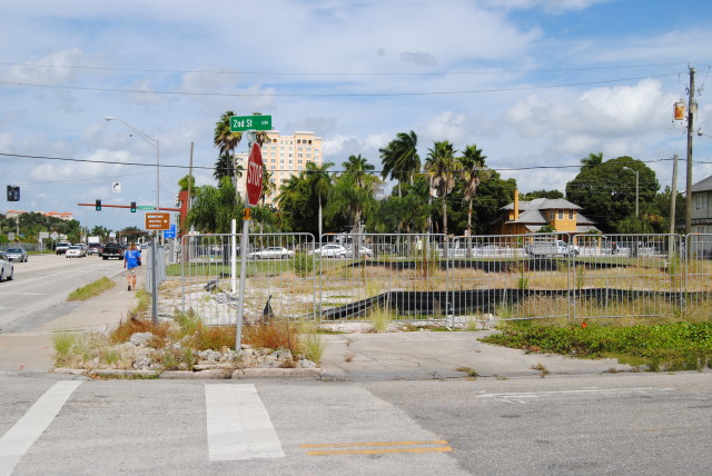 The Embassy Suites & Spa will be constructed at a prominent corner in downtown Sarasota. Roger Drouin photo