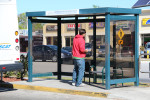 Bus shelter closeup at Southgate Mall March 13 2013 RBH