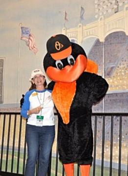 Candace Messerschmidt and Bird. Photo courtesy Sarasota County