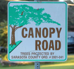 Canopy road sign Hibiscus Robinson Nov. 23 2015