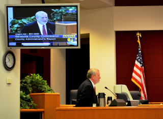 Don Hadsell addresses the County Commission in 2014. File photo