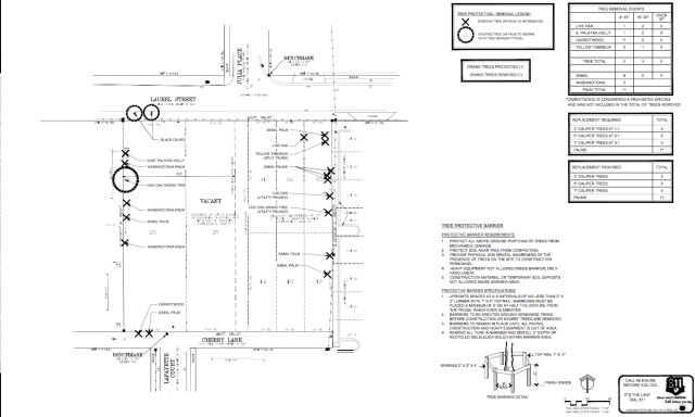 A schematic shows more project details. Image courtesy City of Sarasota