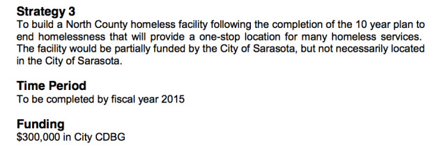 The current Consolidated Plan contains this section about a North County shelter. Image courtesy Sarasota County
