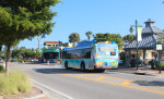 SCAT bus in Siesta Village by gazebo Nov. 3 2015