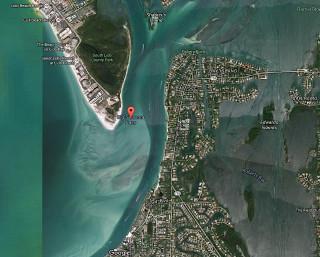 Big Sarasota Pass lies between Lido and Siesta keys. Image from Google maps