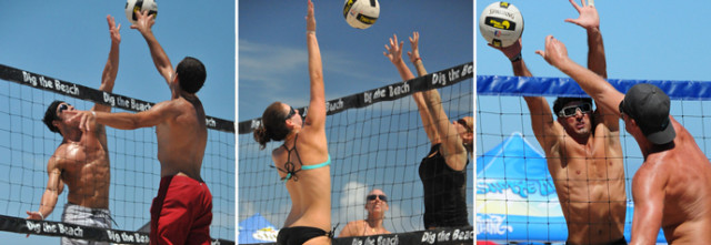 Dig the Beach Volleyball events are scheduled again on Siesta Public Beach in 2016. Images from the Dig the Beach Volleyball website