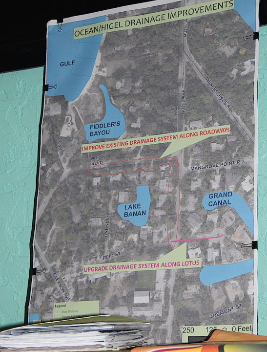 A graphic shows the area where the drainage project is planned. Rachel Hackney photo