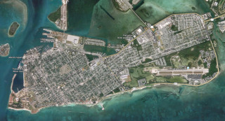 Key West as seen from the air. Image from Google Maps