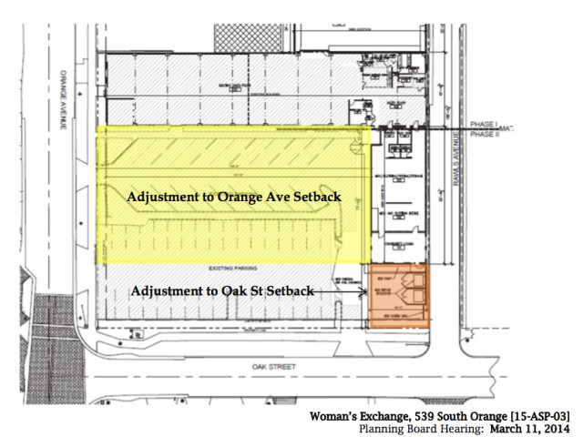 The Woman's Exchange submitted this site plan in its February 2015 application. Image courtesy City of Sarasota