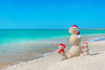Snowmen on Siesta Beach via scgov.net