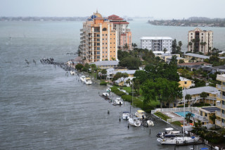 Tropical Storm Debby flooded the area of Golden Gate Point in downtown Sarasota in 2012. File photo