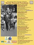2016 MLK Stride Toward Freedom events flier Jan. 17 2016