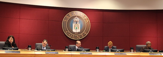 The County Commission sits in session in late January. File photo