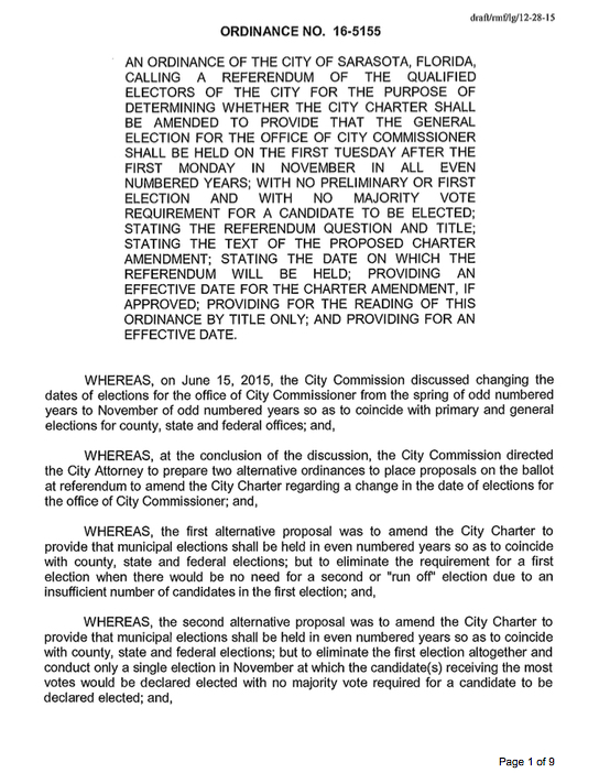 This is the first page of the proposed ordinance. It may be found in its entirety on the city website.