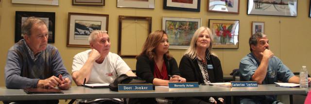 (From left) SKA board members Dan Lundy, Deet Jonker, Beverly Arias, Catherine Luckner and Michael Shay. Rachel Hackney photo