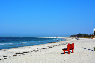 Lido Beach is quiet on an early winter morning. File photo