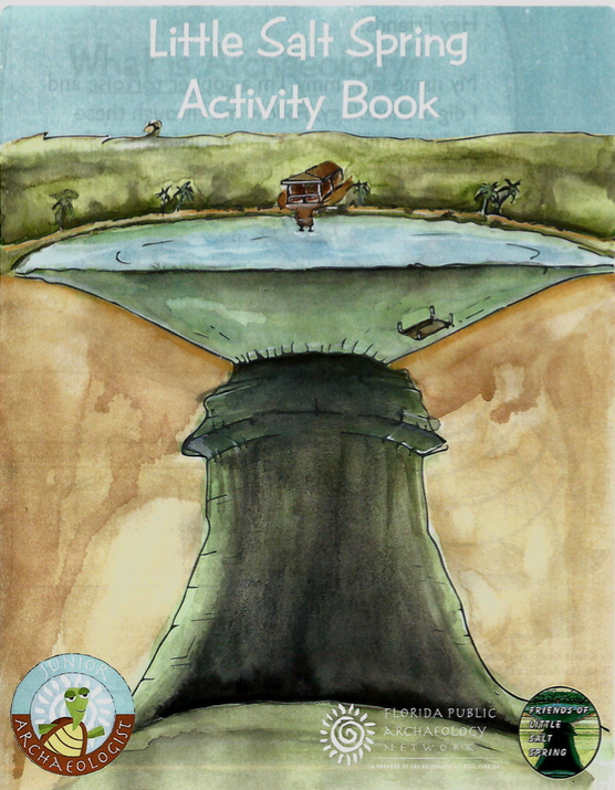 The cover of the Little Salt Spring Activity Book. Image courtesy of Lawry Reid