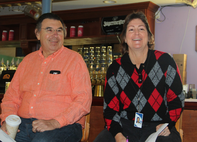 Paul Parr and Lisa Cece participate in the SKVA meeting on Jan. 5. Rachel Hackney photo