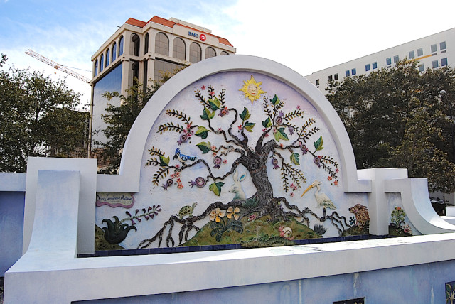 The Pineapple Park artwork by Nancy Goodhearted Matthews will be refurbished. File photo