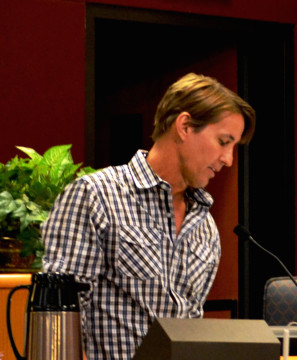 Russell Matthes addresses the County Commission in 2012. File photo