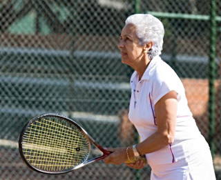 Tennis is among the events during the Senior Games. Photo courtesy Sarasota County