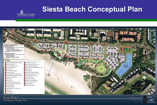 A graphic shows the conceptual plan for the Siesta Beach Park improvements. Image courtesy Sarasota County
