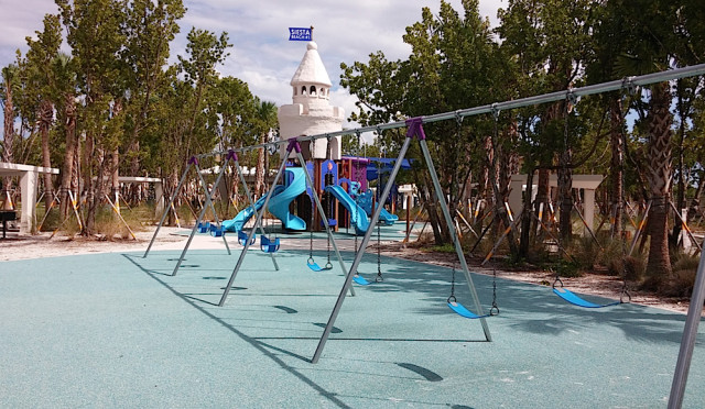 The new playground area has a 'spongy' surface. Image courtesy Sarasota County