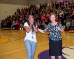 1-Khea Davis surprised by Lori White at BHS 2-9-16-2