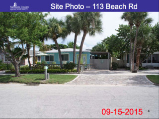 The house at 113 Beach Road dates to 1940. Photo courtesy Sarasota County