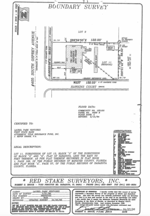 An engineering drawing was included in city documents. Image courtesy City of Sarasota