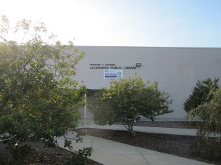 The Jacaranda Public Library is on Woodmere Boulevard in Venice. Image contributed by Jacaranda Public Library to Wikimedia Commons