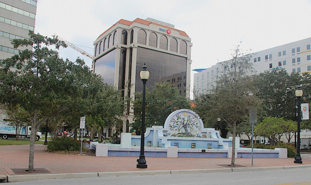 Pineapple Park is in an area that is seeing more development in downtown Sarasota. File photo