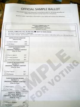 Voter Ballot Sample Florida - more info