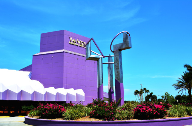The Van Wezel is known affectionately in the community as the 'Purple Cow.' File photo