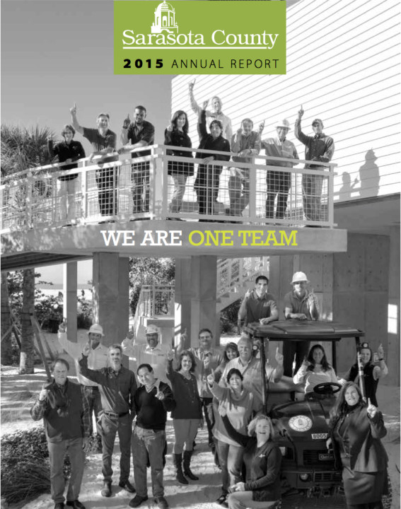 The county's 2015 Annual Report features this cover. Image courtesy Sarasota County