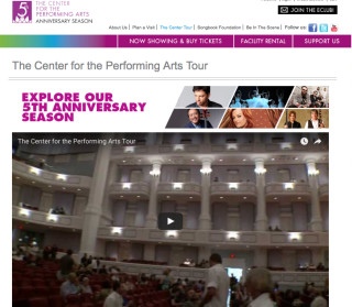 The Carmel, IN, Center for the Performing Arts website offers a virtual tour. Image from the website