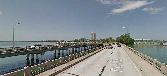 A westbound lane of Coon Key Bridge has reopened temporarily. Image from Google Maps