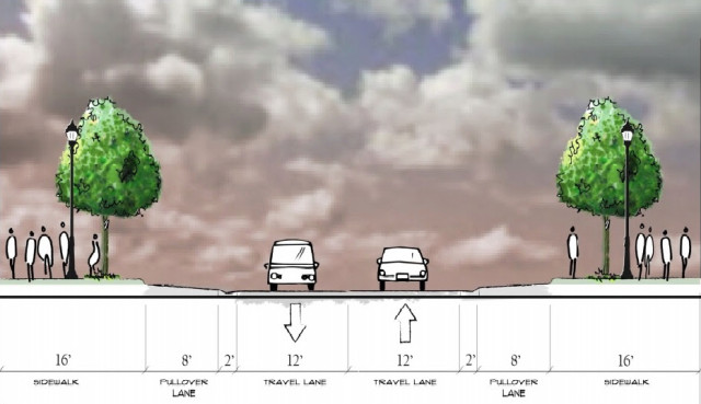 This schematic provides more details about Alternative Two. Image courtesy City of Sarasota