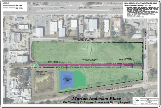 A rendering shows the Marian Anderson Place site in Sarasota. Image courtesy City of Sarasota
