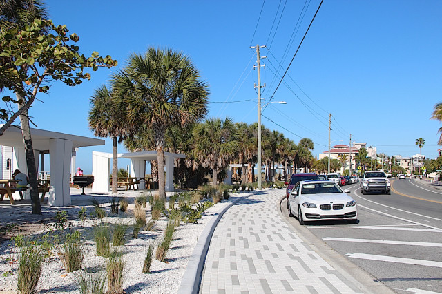 The Beach Road spaces next to the shelters have no parking restrictions related to hours of use. Rachel Hackney photo