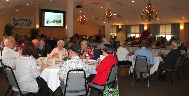Members of the Siesta Key Association gather for their annual breakfast meeting, held March 5. Rachel Hackney photo