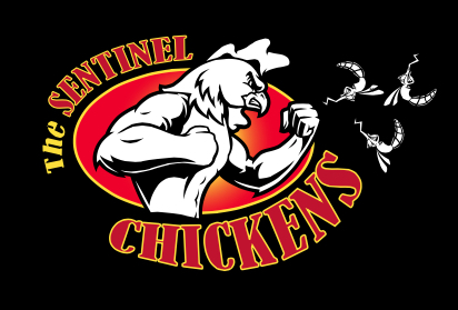 The county's 2012 Annual Report included this logo for the Sentinel Chickens program. Image courtesy Sarasota County