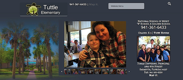 Tuttle Elementary School is located in Sarasota. Banner from the school website
